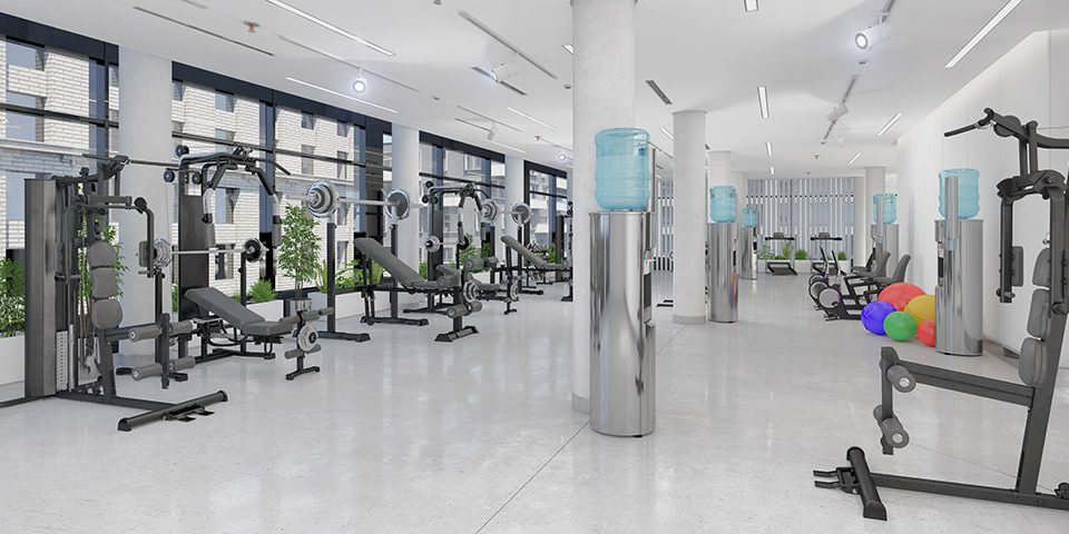 como decorar un gimnasio profesional - sated