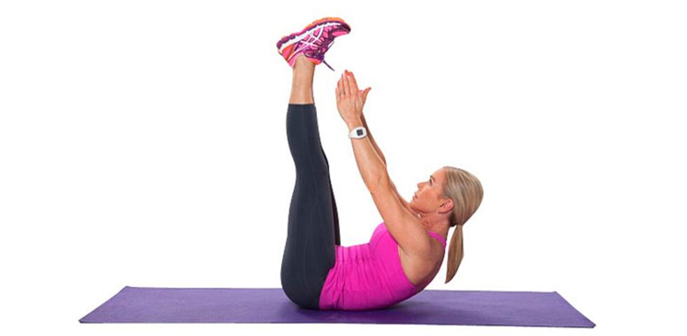 crunch con piernas elevadas - ejercicios core - sated fitness